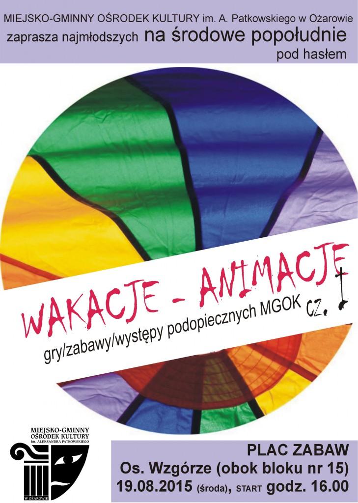 WAKACJE_ANIMACJE_MGOK_Ozarow2015
